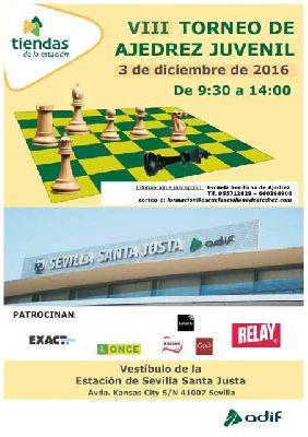 VII Torneo Juvenil de Ajedrez en la Estación de Santa Justa Sevilla