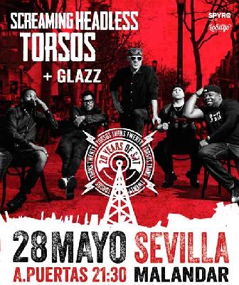 Concierto: Screaming Headless Torsos + Glazz en Malandar Sevilla