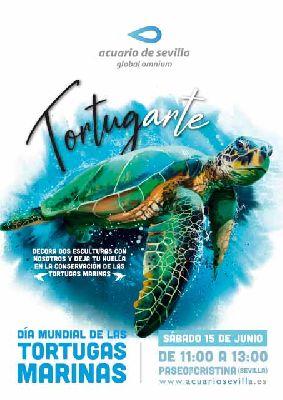 Cartel de la actividad por el Día mundial de las tortugas marinas en Sevilla 2019