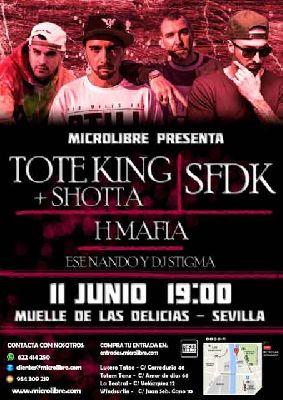 Concierto: Tote King, Shotta y SFDK en el Muelle de las Delicias de Sevilla