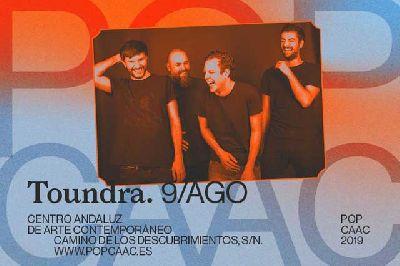 Cartel del concierto de Toundra en Pop CAAC Sevilla 2019