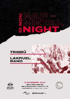 Cartel del concierto de Tribbü y Lakruel Band en Malandar Sevilla 2019