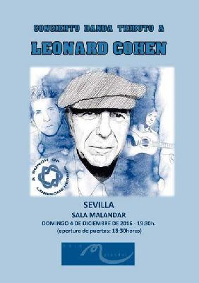 Concierto: tributo a Leonard Cohen en Malandar Sevilla