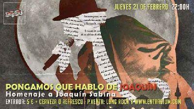 Cartel del concierto de Pongamos que hablo de Joaquín en la sala Long Rock Sevilla 2019