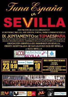 Cartel de Tuna España en Sevilla 2019
