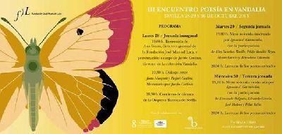 III Encuentro de poesía en Vandalia en Santa Clara Sevilla