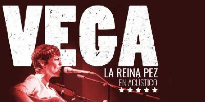 Cartel del concierto de Vega de la gira La reina pez en formato acústico