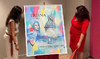 Presentación del cartel de la Velá de Santiago y Santa Ana de Triana de Sevilla 2021 de Nuria Postigo Rodríguez
