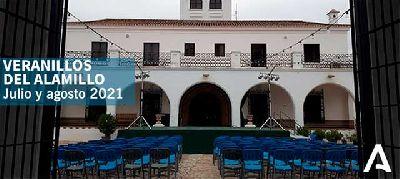 Cartel de los Veranillos del Alamillo 2021 en Sevilla