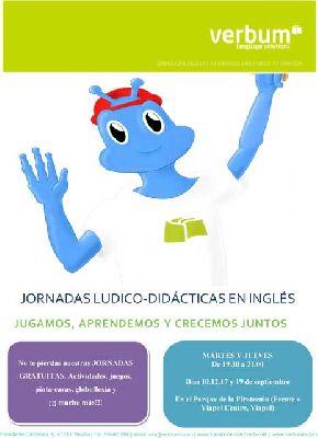 II Jornadas de inglés para niños en el parque de la Pirotecnia