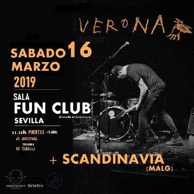 Cartel del concierto de Verona y Scandinavia en FunClub Sevilla 2019