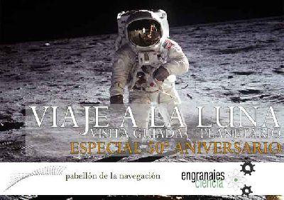 Cartel de la actividad Viaje a la Luna de Engranajes Culturales