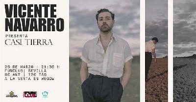 Cartel del concierto del grupo Vicente Navarro en FunClub Sevilla 2020