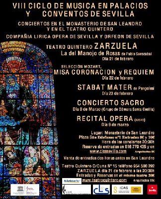 VIII ciclo de Música en Palacios y Conventos de Sevilla