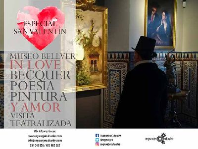 Cartel de la Visita teatralizada Bécquer: poesía, pintura y amor