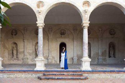 Foto de la visita teatralizada las mujeres de Pilatos en la Casa de Pilatos de Sevilla