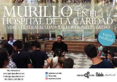 Cartel de la visita familiar Murillo en el Hospital de la Caridad de Sevilla