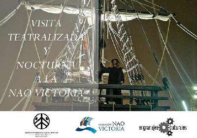 Cartel de las visitas teatralizadas a la Nao Victoria en Sevilla