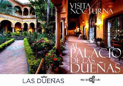 Cartel de las visitas nocturnas al Palacio de las Dueñas de Sevilla