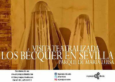Cartel de las visitas teatralizadas los Bécquer en Sevilla