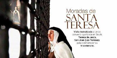 Cartel de las Visitas teatralizadas Moradas de Santa Teresa por Sevilla