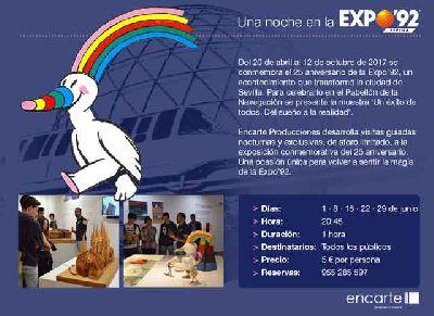 Visitas: Una noche en la Expo 92 en el Pabellón de la Navegación Sevilla