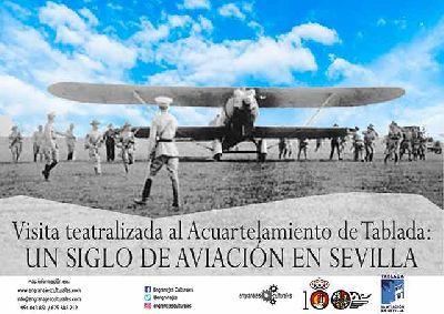 Cartel de las Visita teatralizada al Acuartelamiento de Tablada en Sevilla