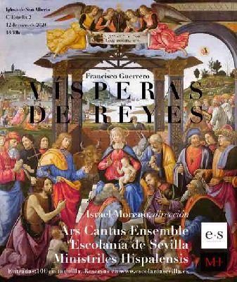 Cartel del concierto Vísperas de Reyes en la iglesia de San Alberto de Sevilla 2020