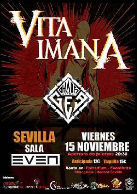 Cartel del concierto de Vita Imana y Chaos Before Gea en la Sala Even Sevilla 2019