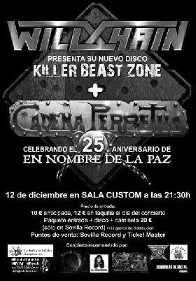 Concierto: Wild Chain y Cadena Perpetua en Custom Sevilla
