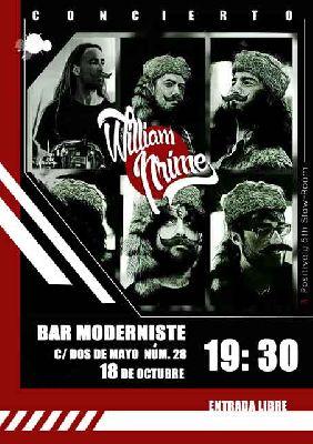 Cartel del concierto de William Prime en Bar Moderniste Sevilla 2019