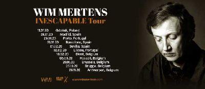 Cartel de la gira Inescapable Tour 2020 de Wim Mertens