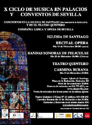 X ciclo de Música en Palacios y Conventos Sevilla, diciembre 2013