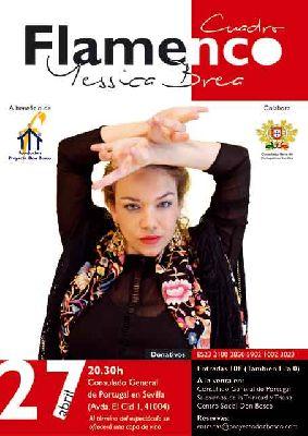 Flamenco: Yessica Brea en el Consulado de Portugal de Sevilla