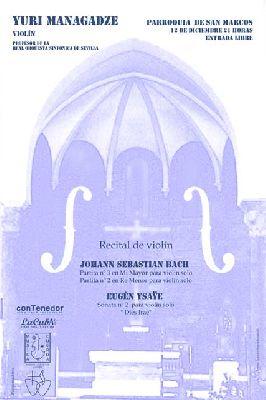 Concierto de violín en la iglesia de San Marcos Sevilla (diciembre 2015)