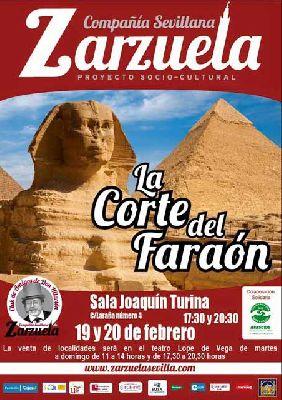 Zarzuela: La Corte del Faraón en la Sala Turina de Sevilla (febrero 2016)