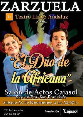 Zarzuela: El dúo de La africana en Cajasol Sevilla (noviembre 2017)