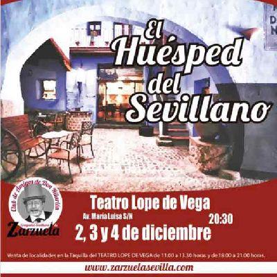 Cartel del concierto de El huésped del sevillano en el Teatro Lope de Vega de Sevilla 2019