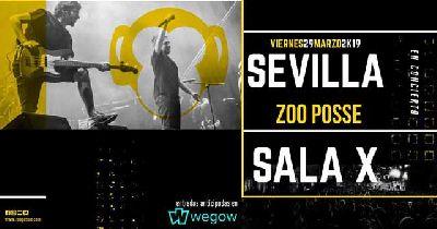 Cartel del concierto de Zoo Posse en la Sala X de Sevilla