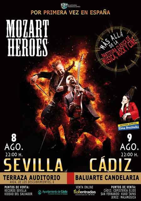 Mozart Heroes En La Terraza Auditorio Rocío Jurado Sevilla